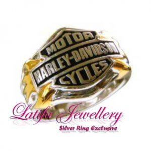 cincin logo harly davidson cow cew emas perak palladium platina cincin logo perusahaan almamater emas perak bikin jual produksi