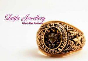 cincin logo perusahaan emas kuning putih cincin almamater cincin pendidikan cincin alumni murah bikin buat produksi perak