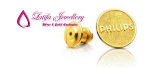 pin logo perusahaan emas perak palladium murah pembuatan bikin