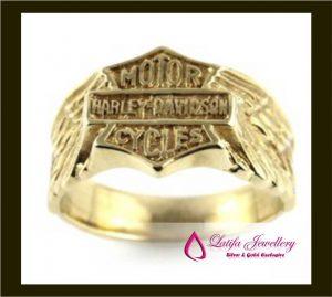 jual cincin Harly Davidson pria cowok emas asli platina toko perhiasan jogja jakarta depok bandung