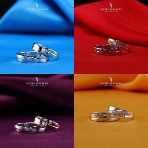 Cincin nikah kawin tunangan couple Bontang custom pin emas perak palladium platinum platina silver Jual Beli bikin cincin murah bagus (1)