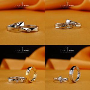 Cincin nikah kawin tunangan couple Bontang custom pin emas perak palladium platinum platina silver Jual Beli bikin cincin murah bagus (7)