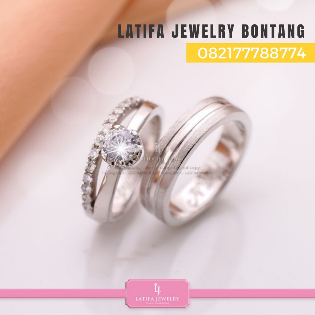 Toko jual beli cincin nikah kawin tunangan couple custom emas palladium perak platinum bontang murah (3)