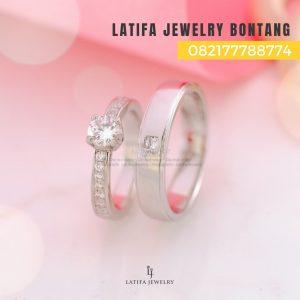 Toko jual beli cincin nikah kawin tunangan couple custom emas palladium perak platinum bontang murah (4)