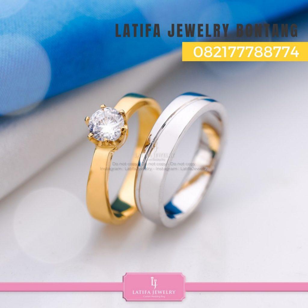 Toko jual beli cincin nikah kawin tunangan couple custom emas palladium perak platinum bontang murah (5)