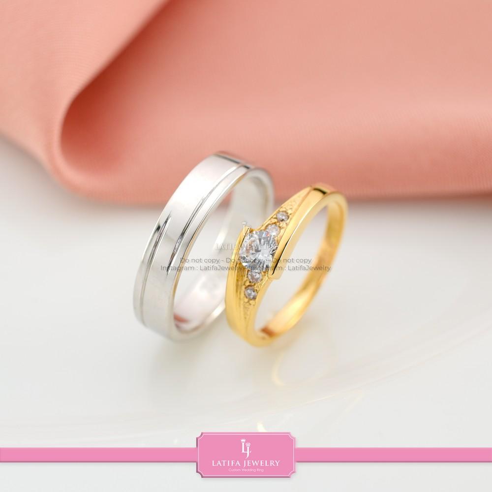 cincin nikah Bontang kawin tunangan couple custom emas perak silver palladium platinum platina jual beli bikin model desain pin murah (1)