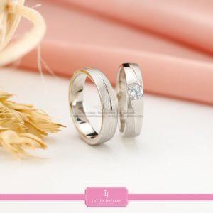 cincin nikah Bontang kawin tunangan couple custom emas perak silver palladium platinum platina jual beli bikin model desain pin murah (10)