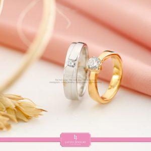 cincin nikah Bontang kawin tunangan couple custom emas perak silver palladium platinum platina jual beli bikin model desain pin murah (11)