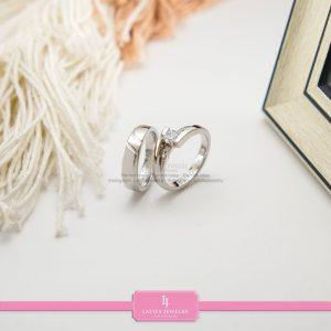 cincin nikah Bontang kawin tunangan couple custom emas perak silver palladium platinum platina jual beli bikin model desain pin murah (4)