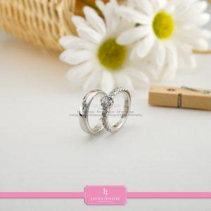 cincin nikah Bontang kawin tunangan couple custom emas perak silver palladium platinum platina jual beli bikin model desain pin murah (6)