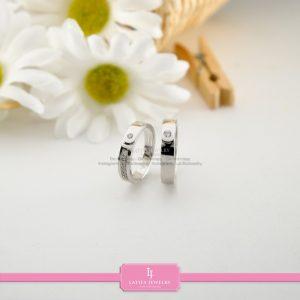 cincin nikah Bontang kawin tunangan couple custom emas perak silver palladium platinum platina jual beli bikin model desain pin murah (7)