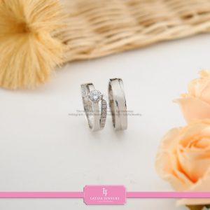 cincin nikah Bontang kawin tunangan couple custom emas perak silver palladium platinum platina jual beli bikin model desain pin murah (9)