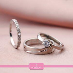 cincin nikah Bontang kawin tunangan couple custom emas perak silver palladium platinum platina jual beli bikin model pin murah Bontang